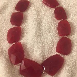 Jewelry - Strawberry jade necklace